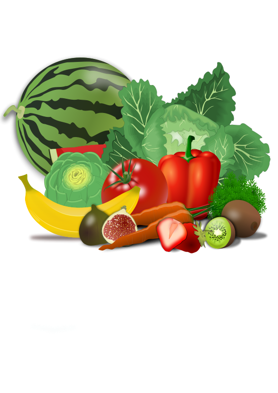 Healthy food vegetables fruit. Weight clipart healty