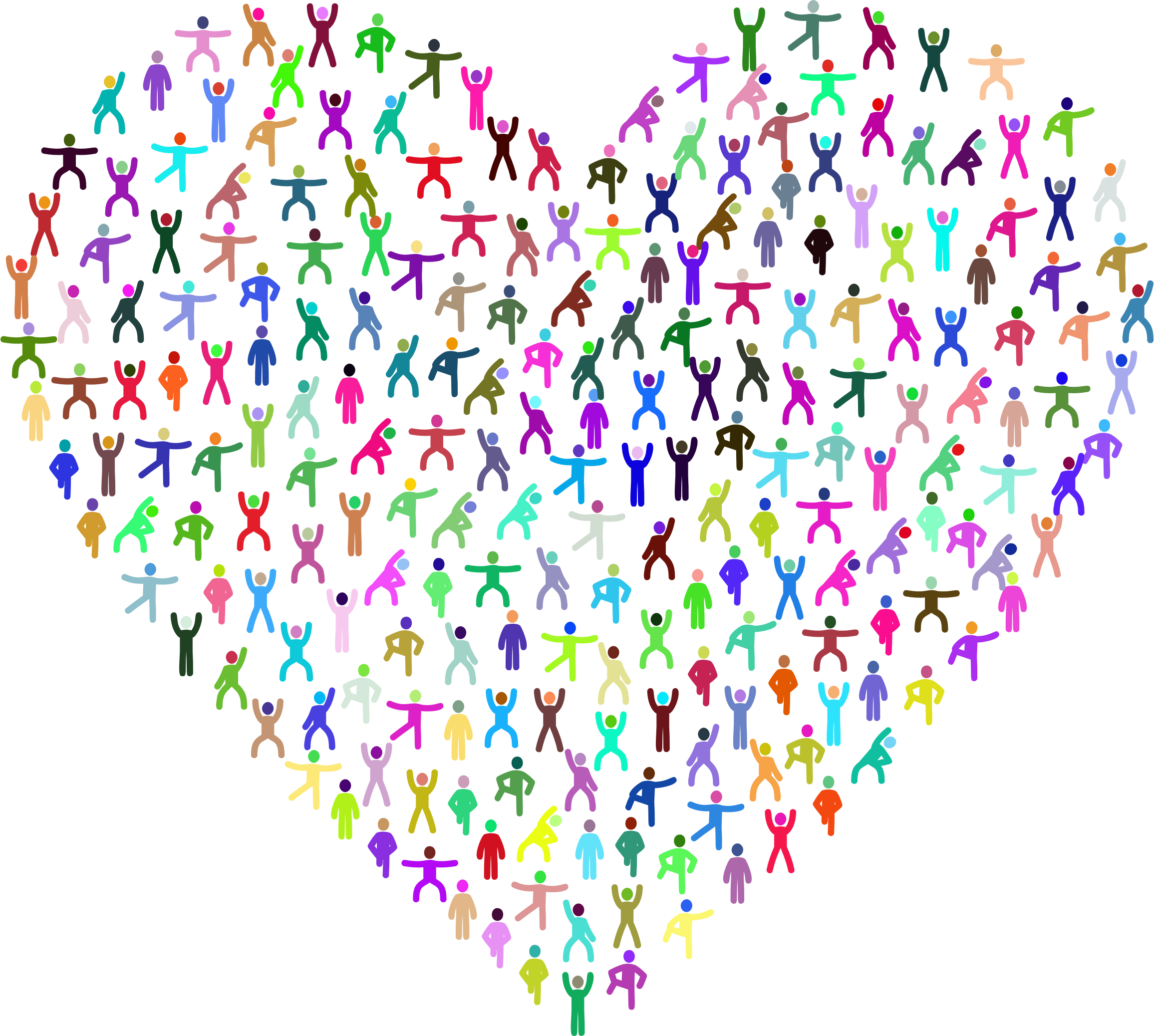 Clipart exercise heart. Love fitness prismatic big