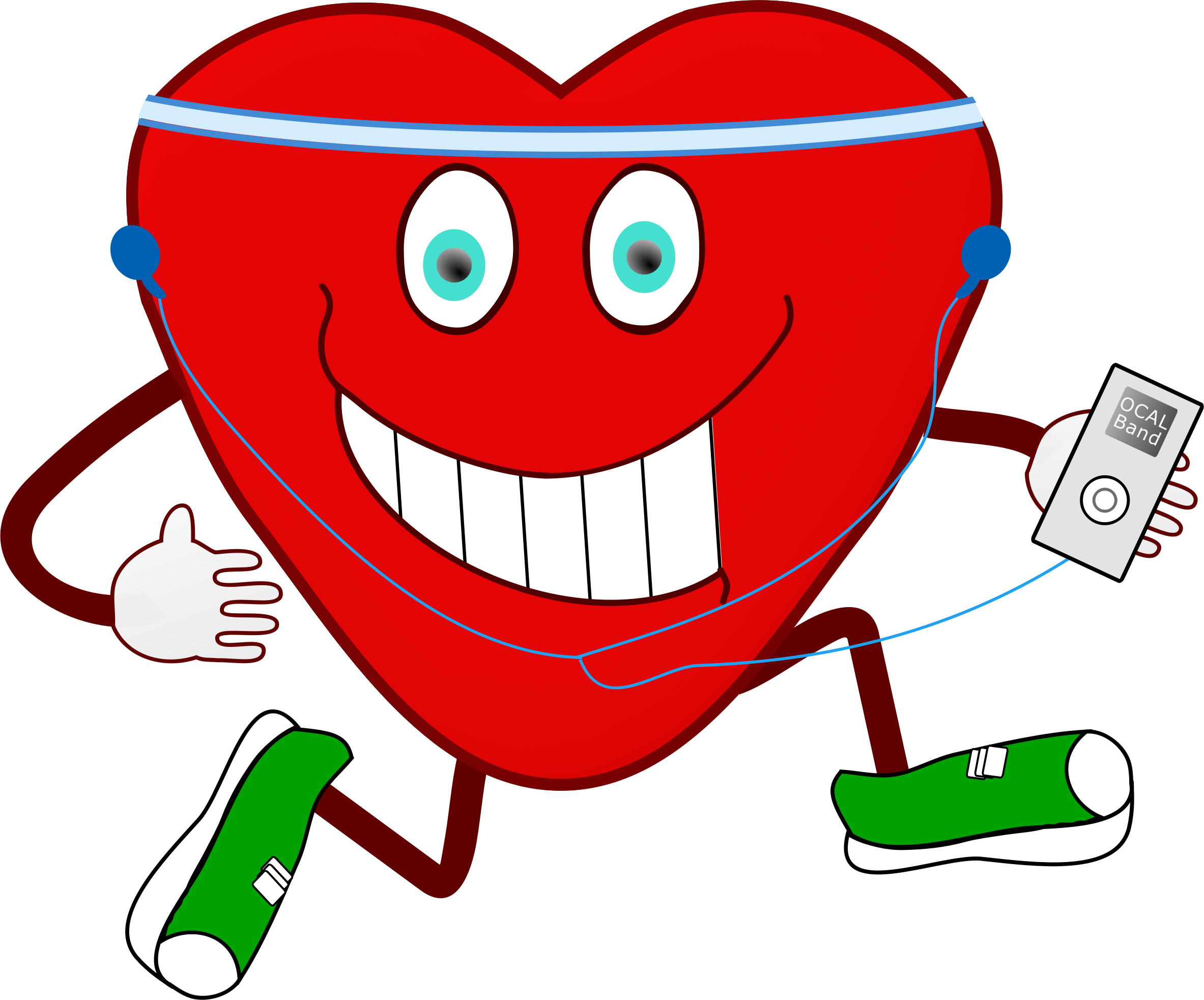Exercise clipart heart. Jogging big image png