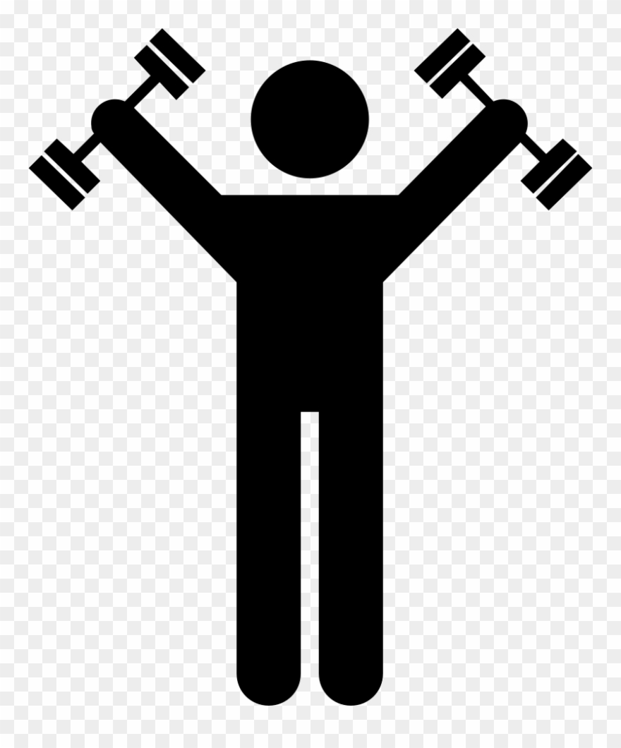 Exercising clipart icon. Dumbbells exercise svg png