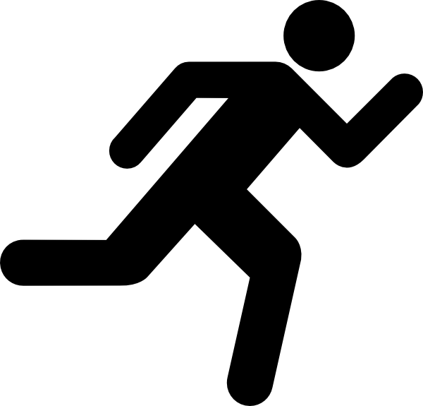 Running icon on transparent. Exercise clipart run