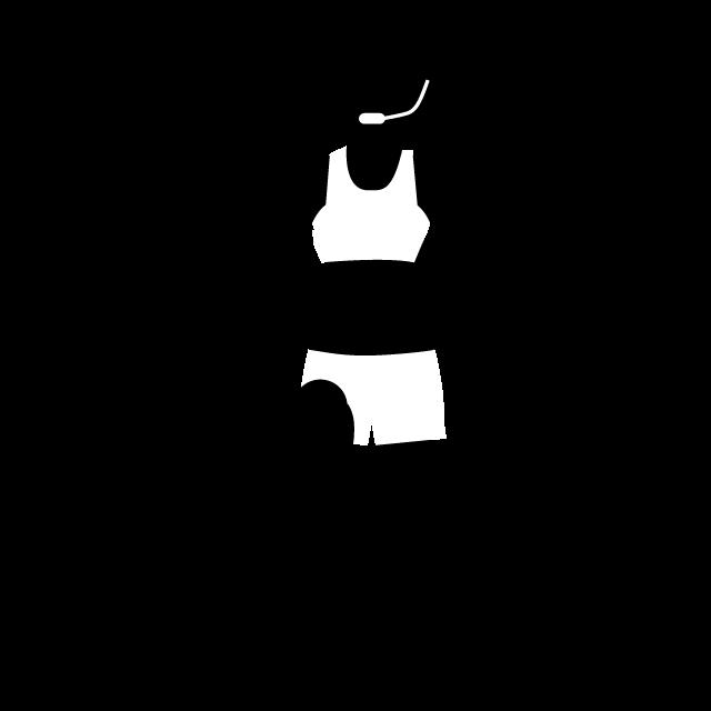 Exercising clipart aerobic. Sports instructor exercise aerobics