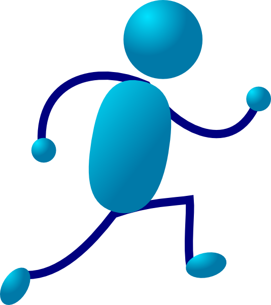 Exercising clipart runner. Running stick man clip