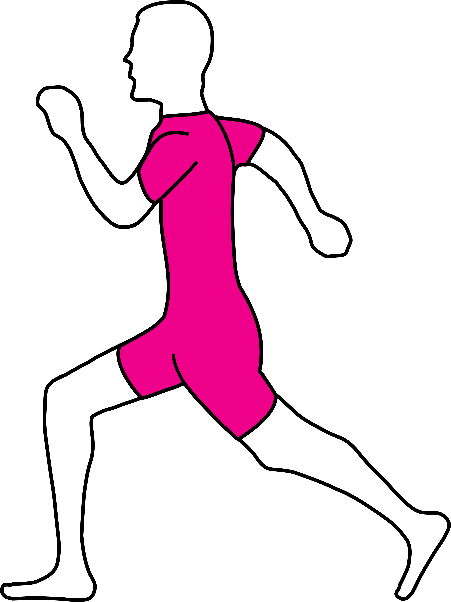 Clipart exercise jogging. Machovka big image png