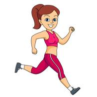 Exercise clipart run. Girl jogging free download