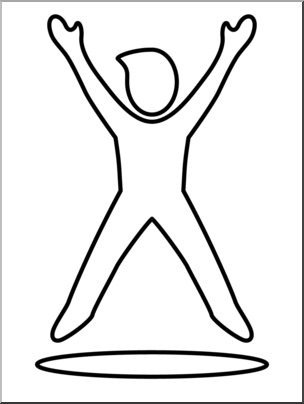 Exercise clipart simple. Clip art jumping jacks