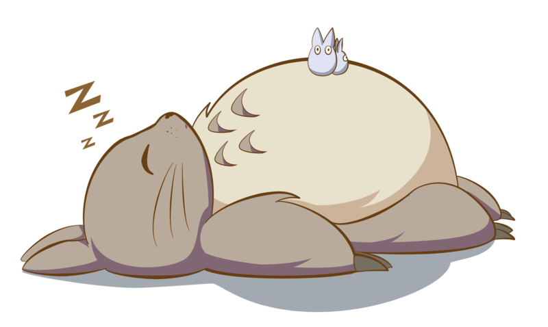 Sleepy totoro pinterest studio. Exercise clipart kawaii