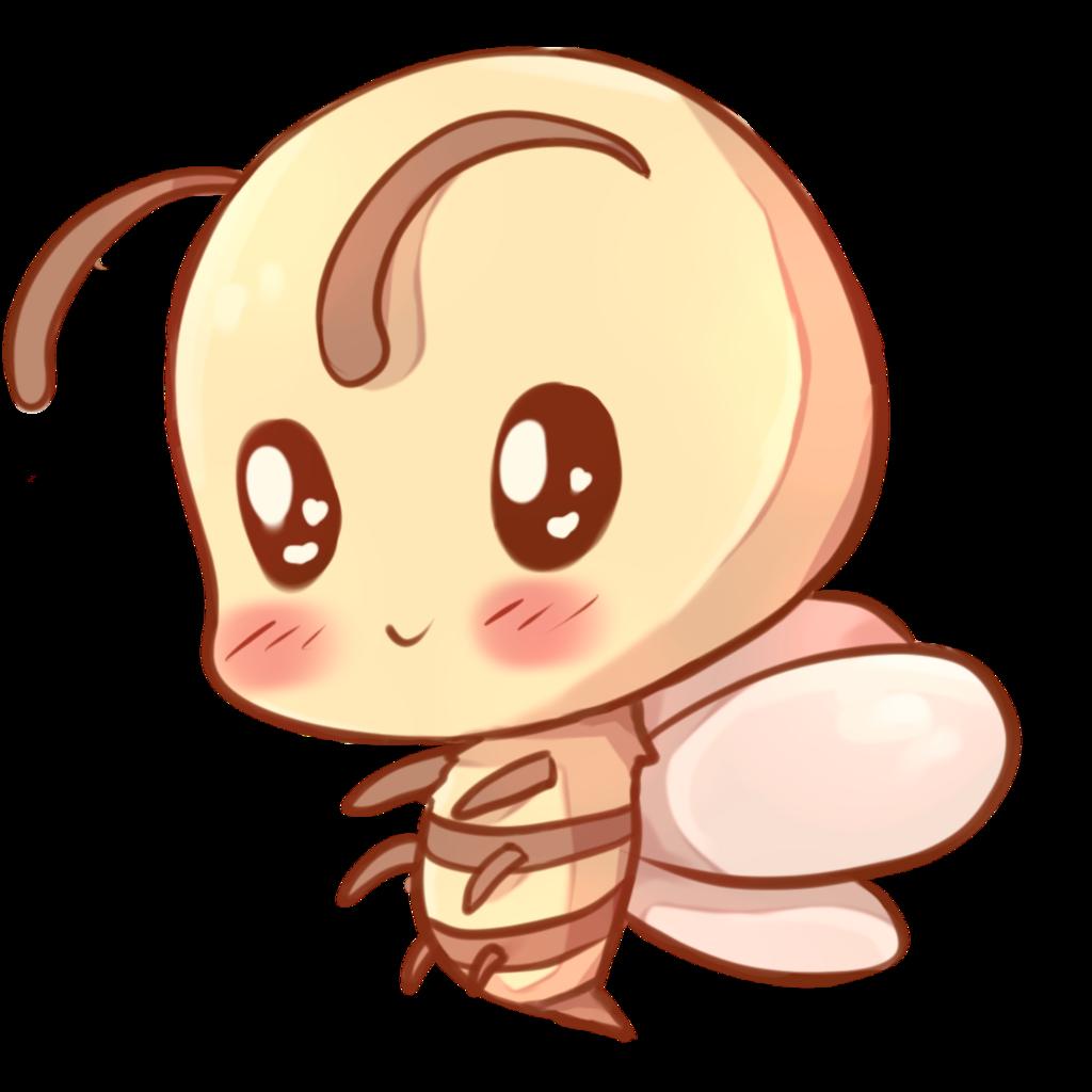 Drawn bees pencil and. Kawaii clipart bee