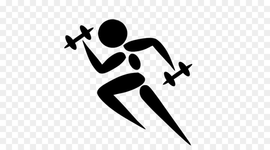 Exercising clipart fitness trainer. Cartoon exercise line font