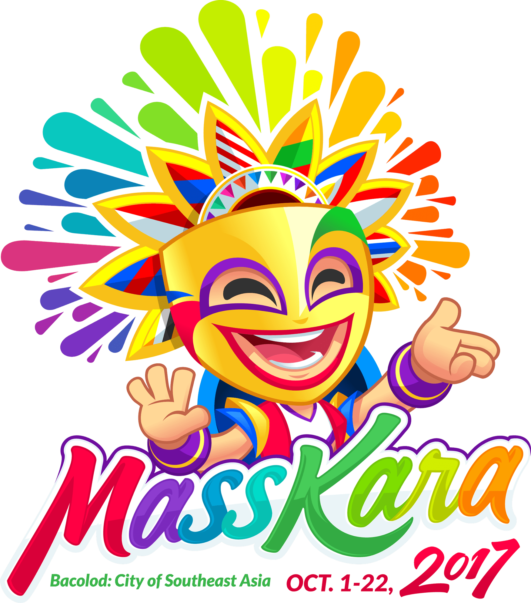 Masskara logo travelologies pinterest. Feast clipart pinoy food