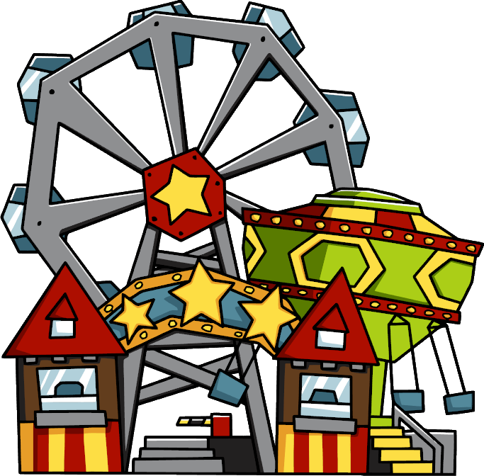 collection of amusement. Rollercoaster clipart theme park