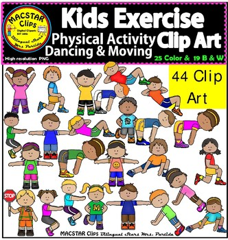 Kids dancing moving clip. Exercise clipart physical activity