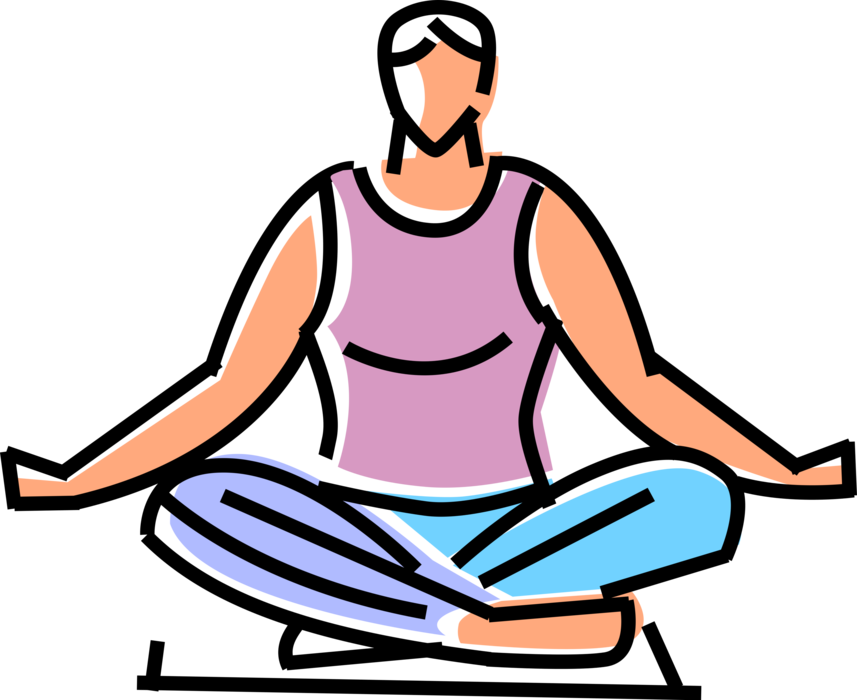 Exercising clipart balance exercise. Meditation and yoga vector