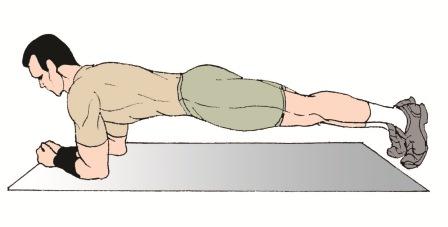 Exercising clipart plank. Exercise cartoon clip art