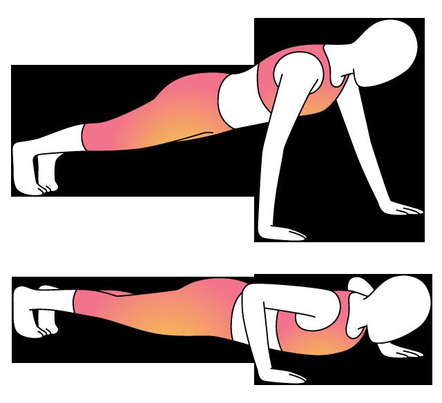 Physera movement lower body. Exercising clipart push up