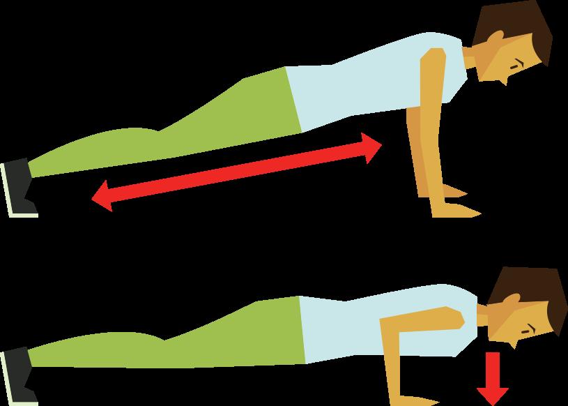 Exercise clipart push up. No gym problem good