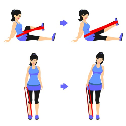 Exercising clipart resistance exercise. Create a cartoon like