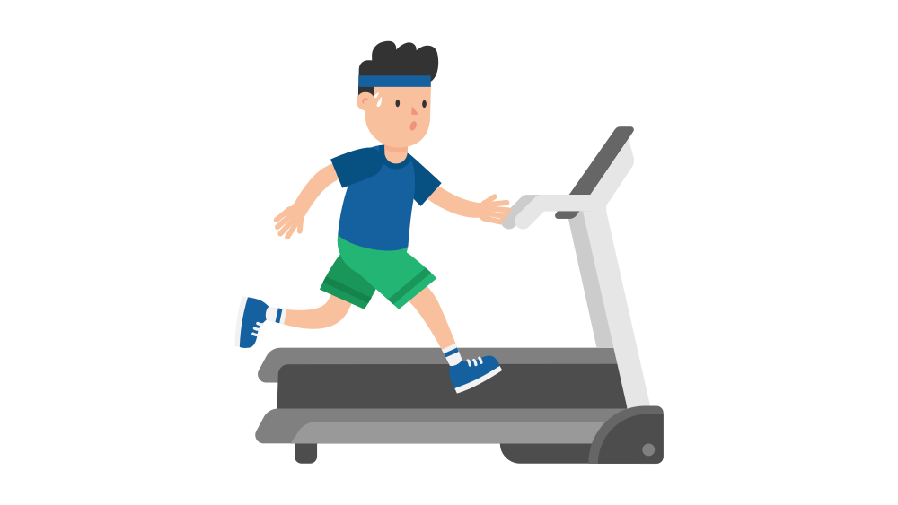 File man on a. Exercising clipart running machine