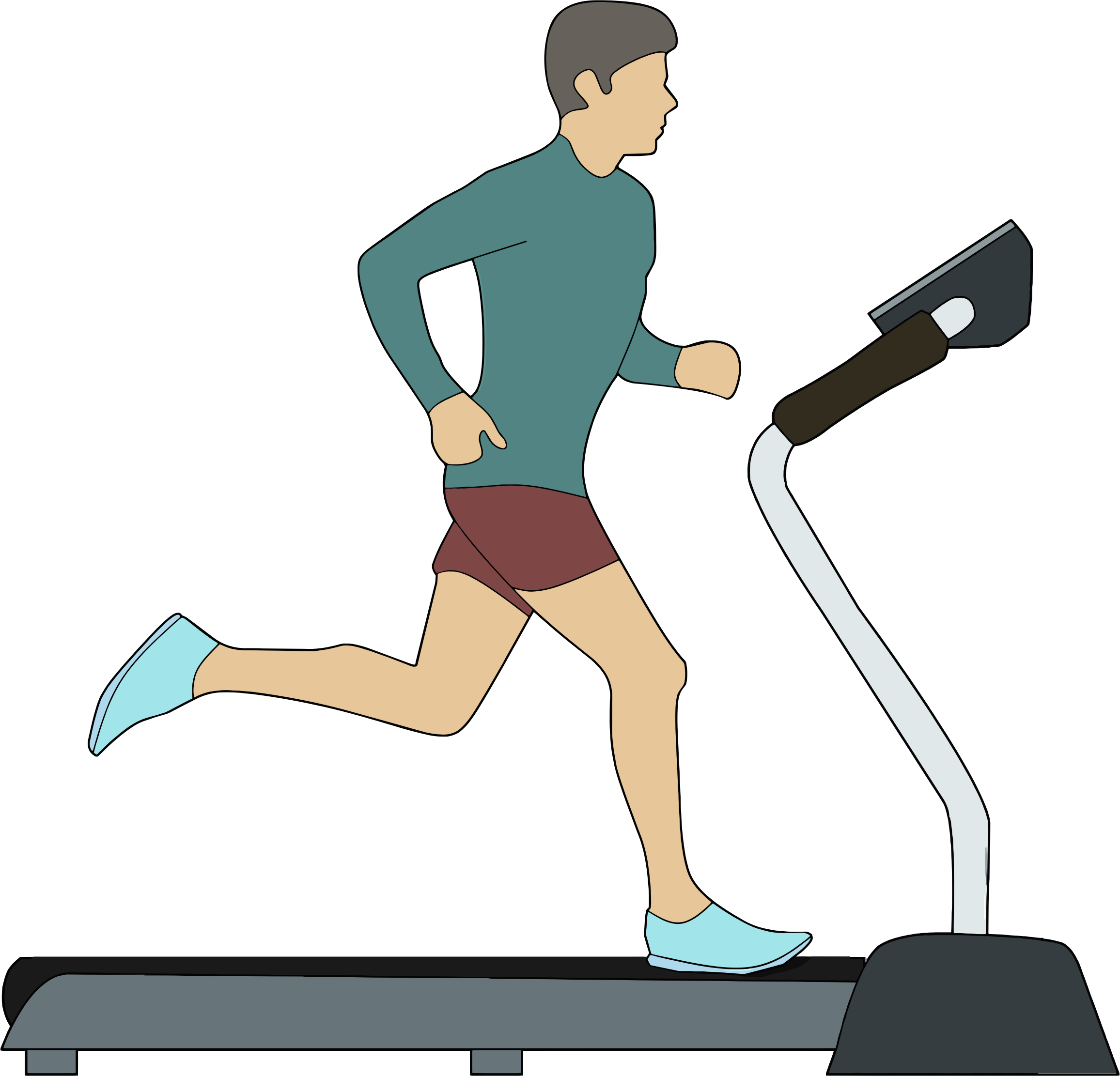 Exercising clipart running machine.  collection of on