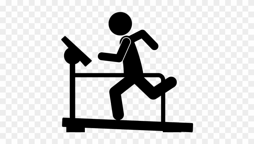Exercising clipart running machine. Exercise