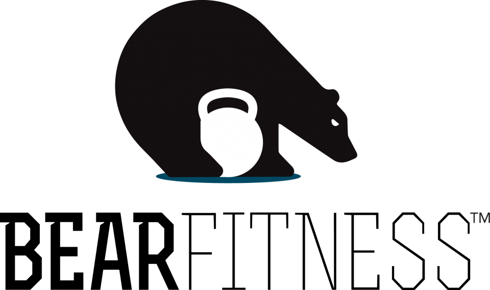 Bear fitness . Exercise clipart russian twist