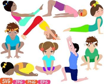 Clipart exercise school. Yoga poses clip art