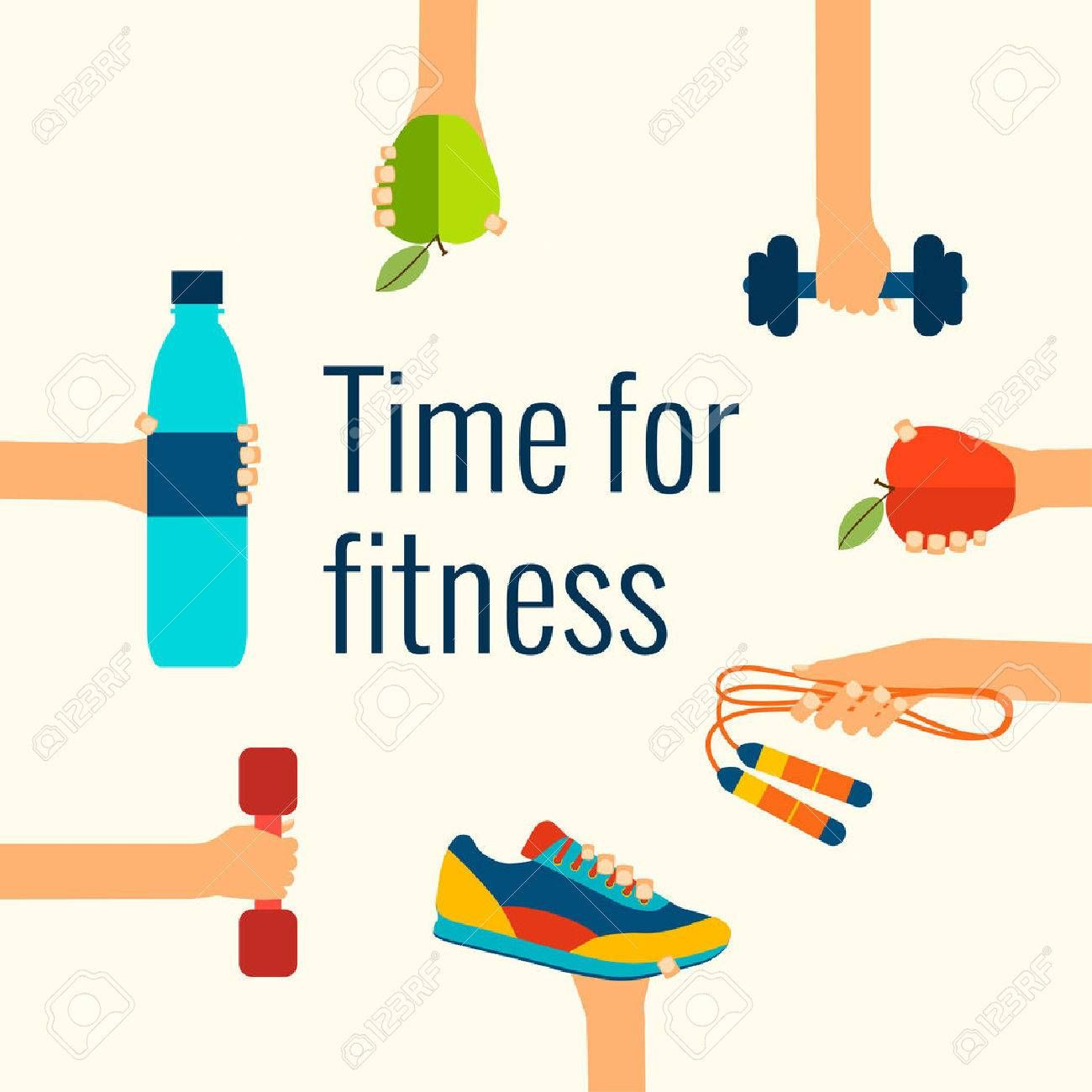 Image result for free. Exercise clipart exercise time