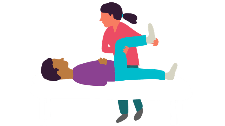 Exercising clipart senior exercise. For back and neck