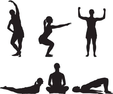 Free exercise cliparts download. Exercising clipart silhouette