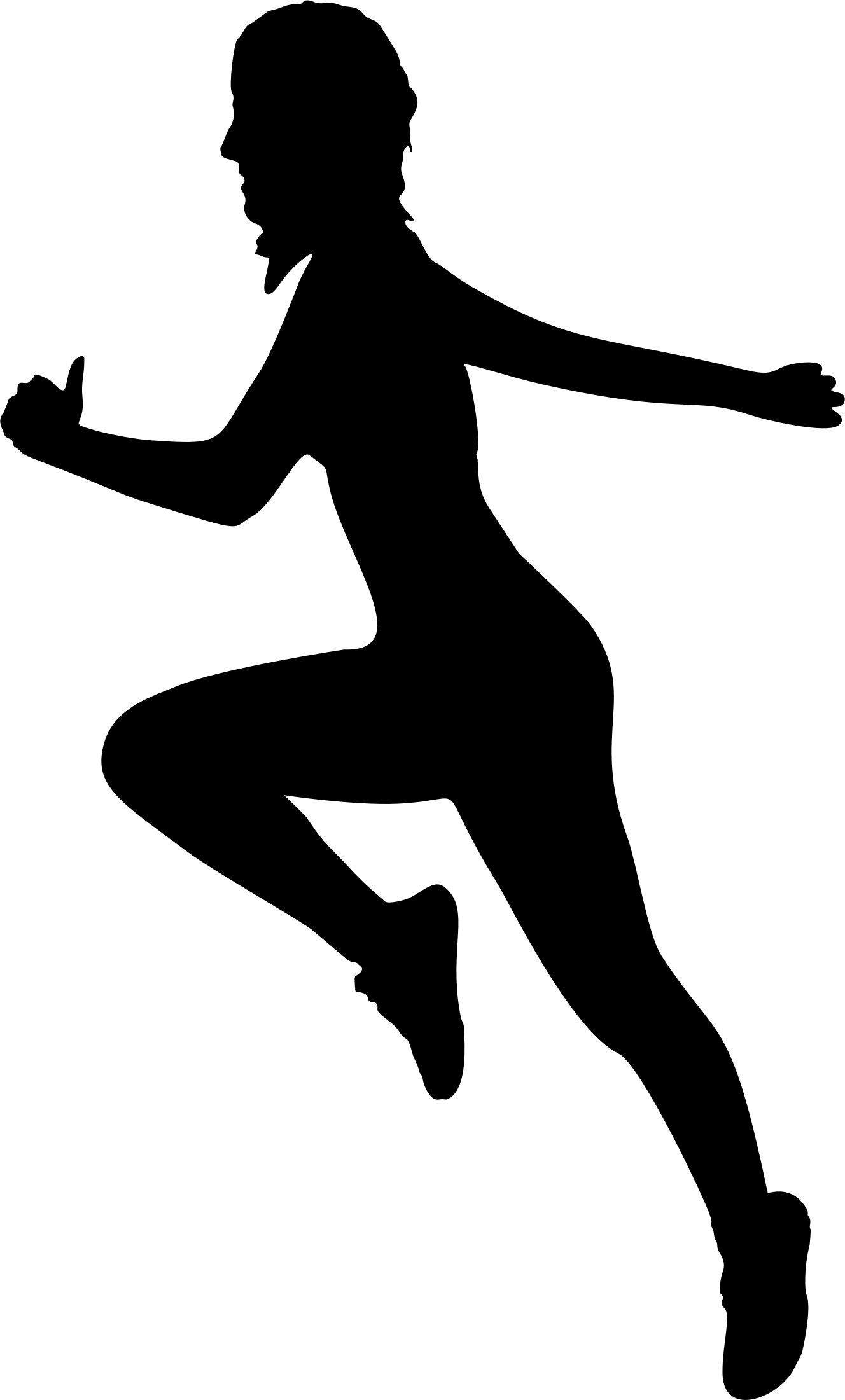 Illustration of silhouette girl. Exercise clipart fitness