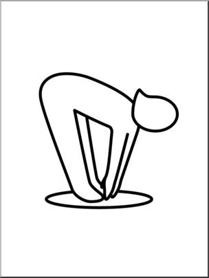 Clip art touching toes. Exercise clipart simple