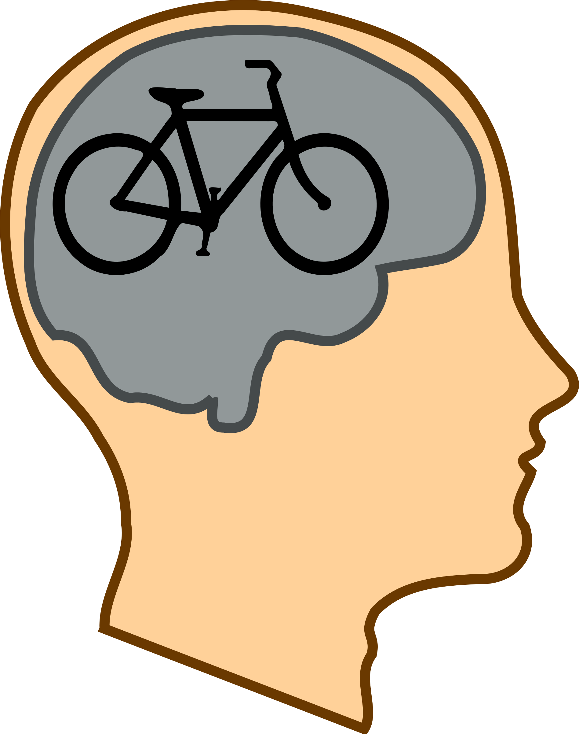 Muscles clipart brain. Bicycle for our minds