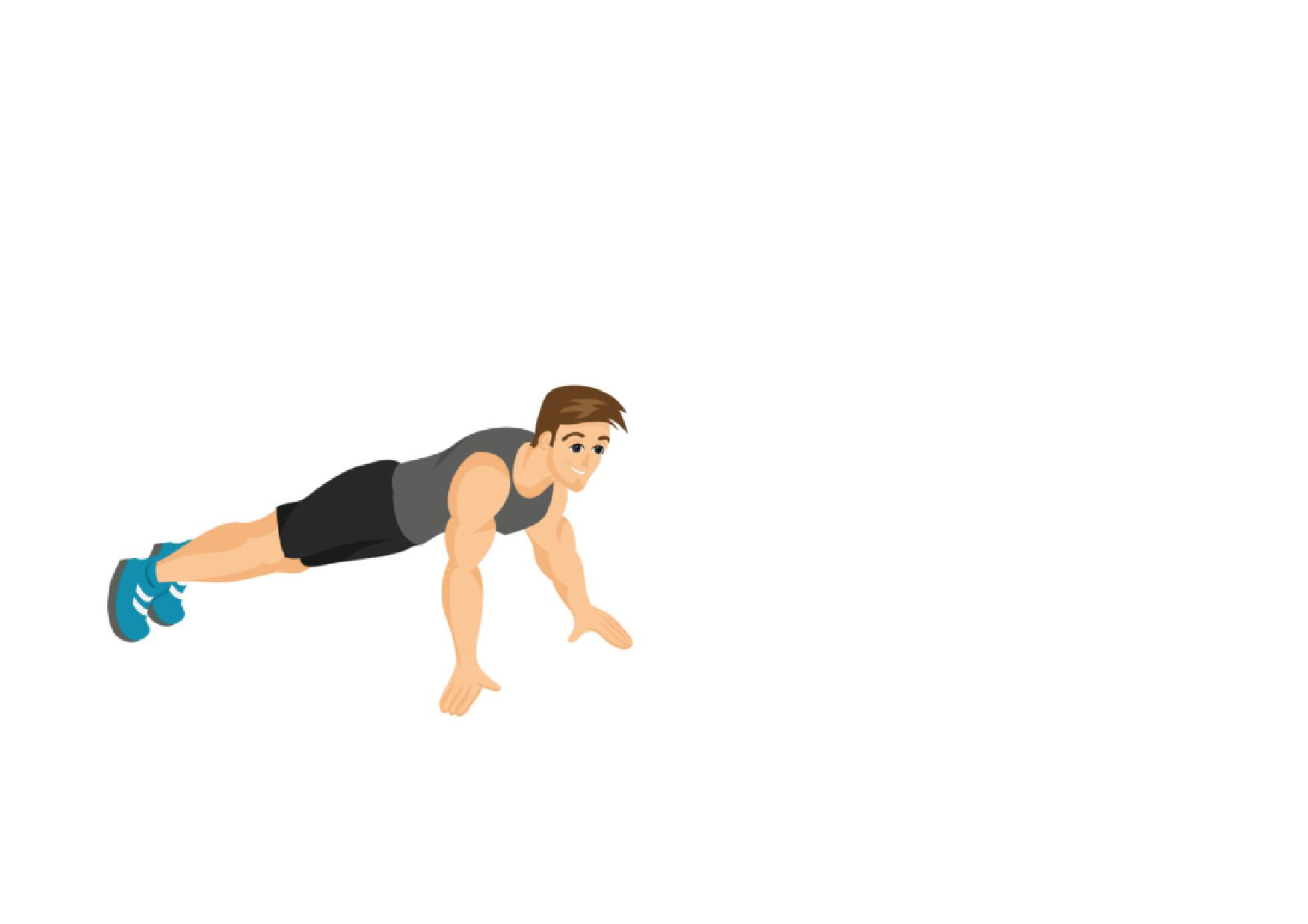 Gym fitness full workout. Exercise clipart sit ups