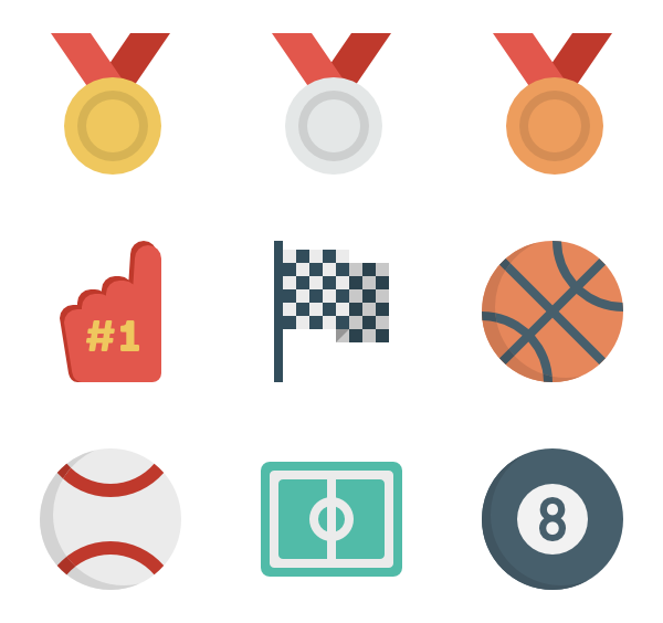 Exercise clipart sports day. Icons free vector sport