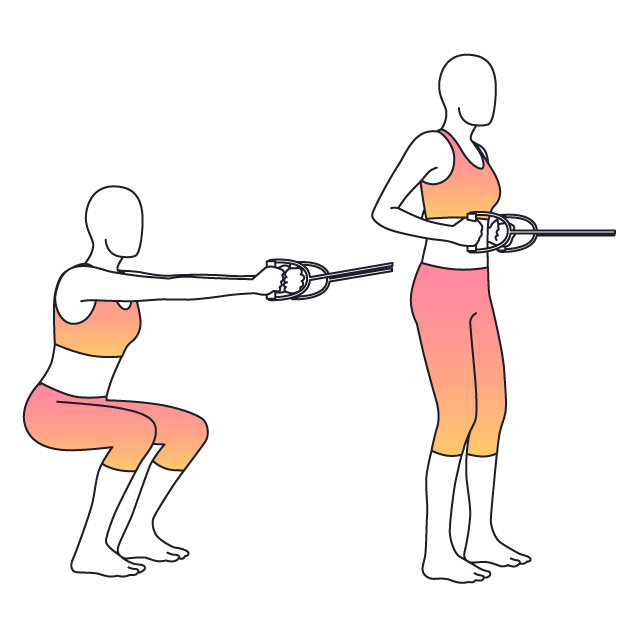 Exercise clipart squat exercise. Physera and row setup