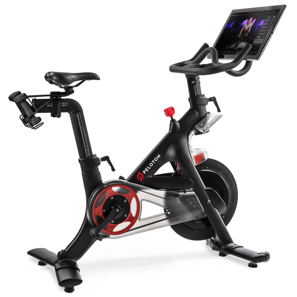 Peloton indoor with online. Exercise clipart stationary bike
