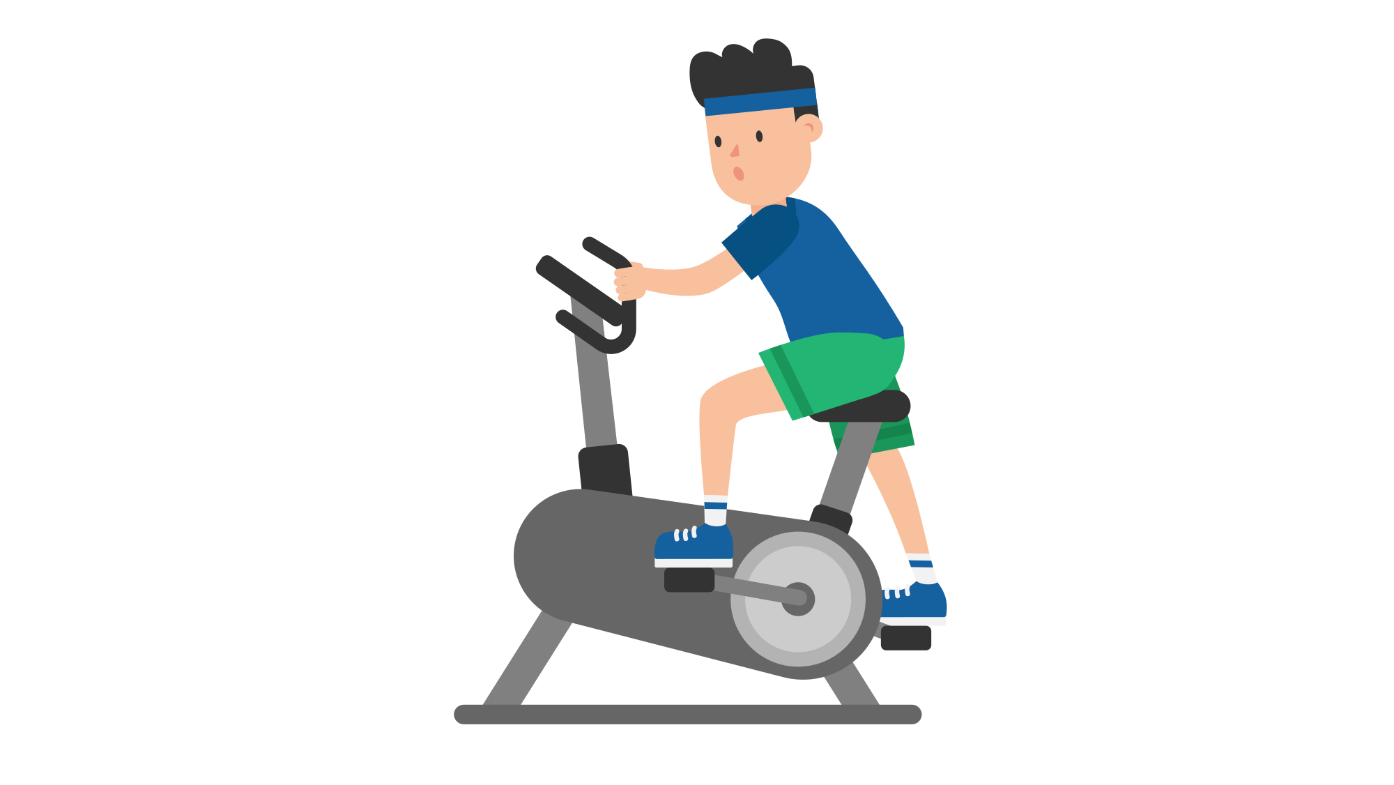 Exercise cartoon images secondtofirst. Exercising clipart stationary bike