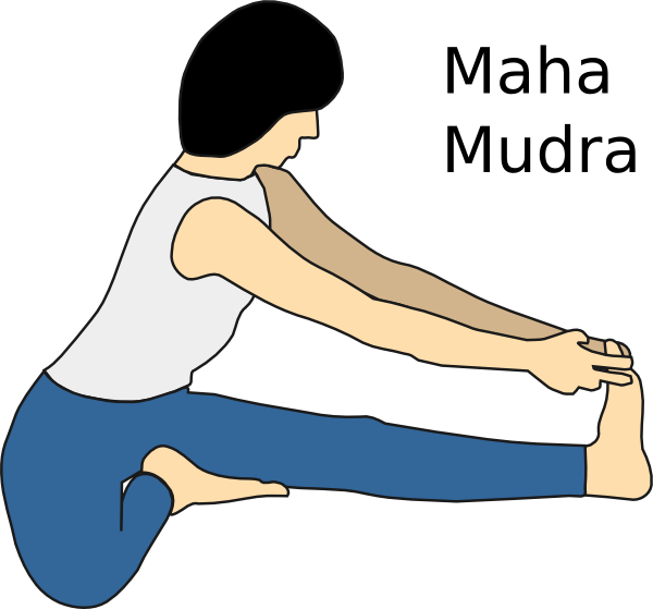 Yoga position maha mudra. Exercise clipart stretches