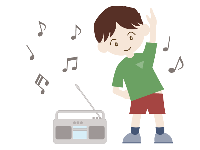 Exercise clipart summer. Radio vacation illustration free
