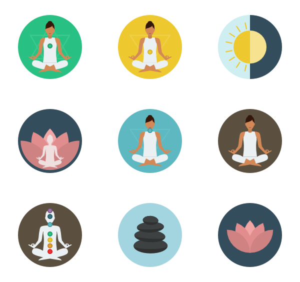 Exercise clipart icon. Yoga icons free vector
