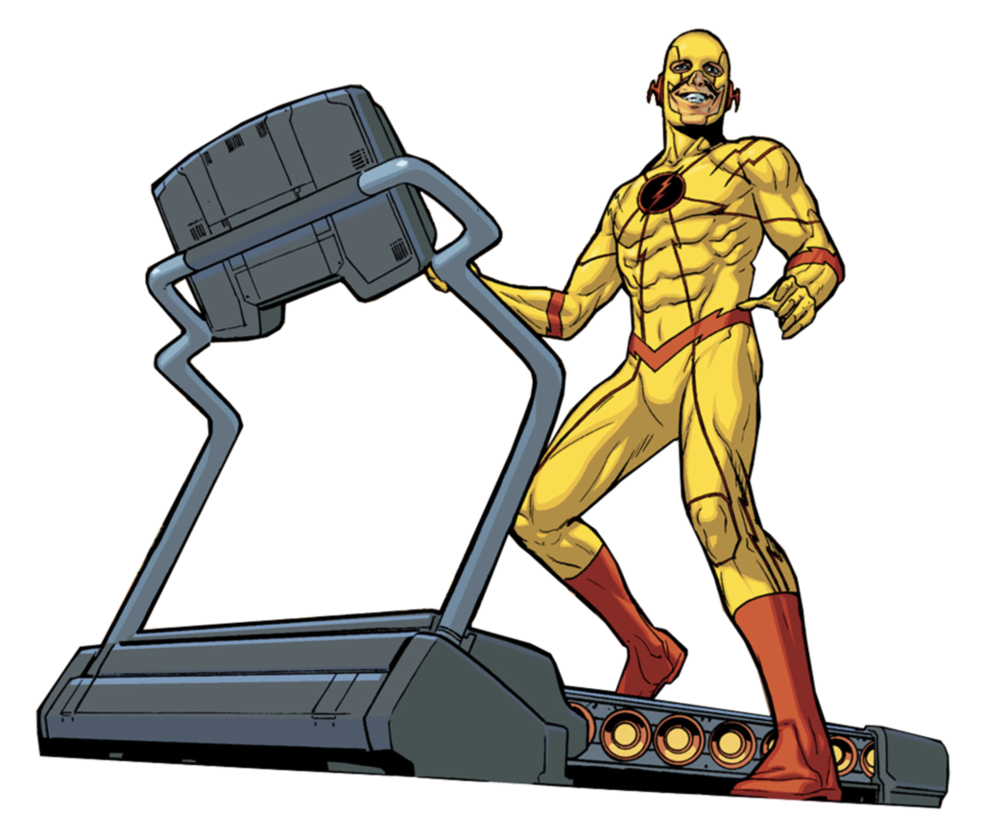 Exercise clipart treadmill. Cosmic reverse flash by