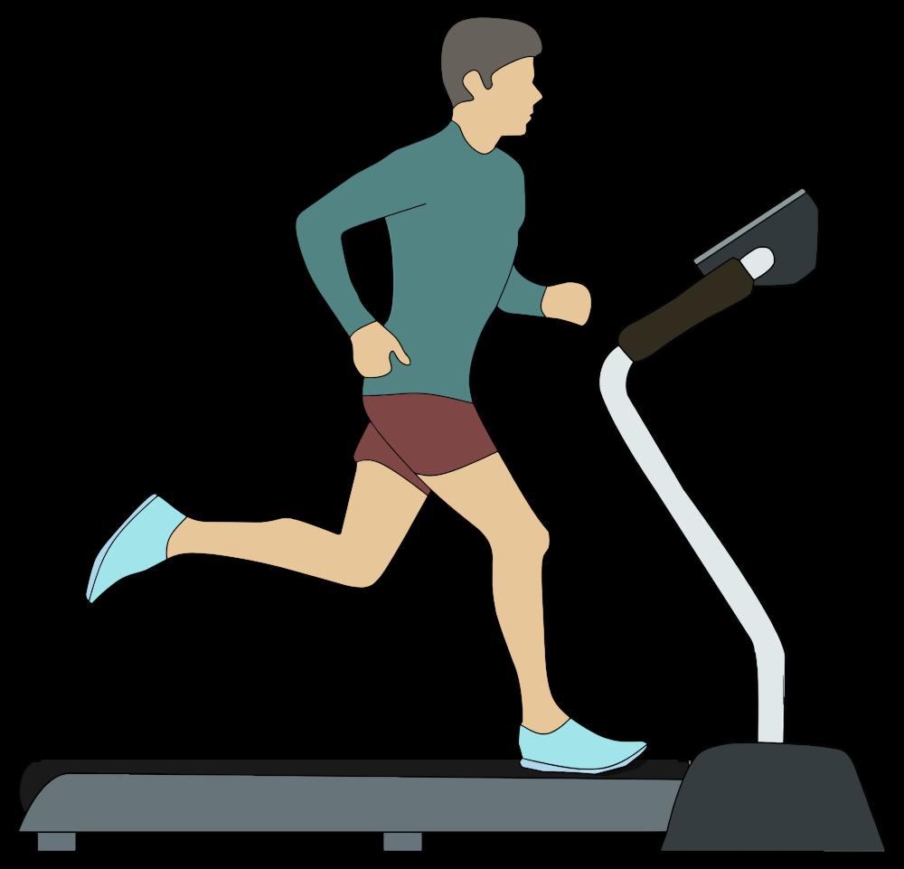 Onlinelabels clip art man. Exercise clipart treadmill