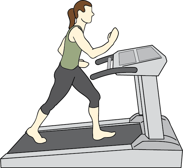 Machine aerobic physical therapy. Clipart exercise walking