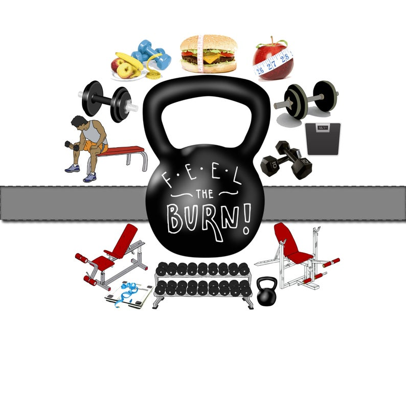 Exercise clipart weight gym. Workout lifting training fitness