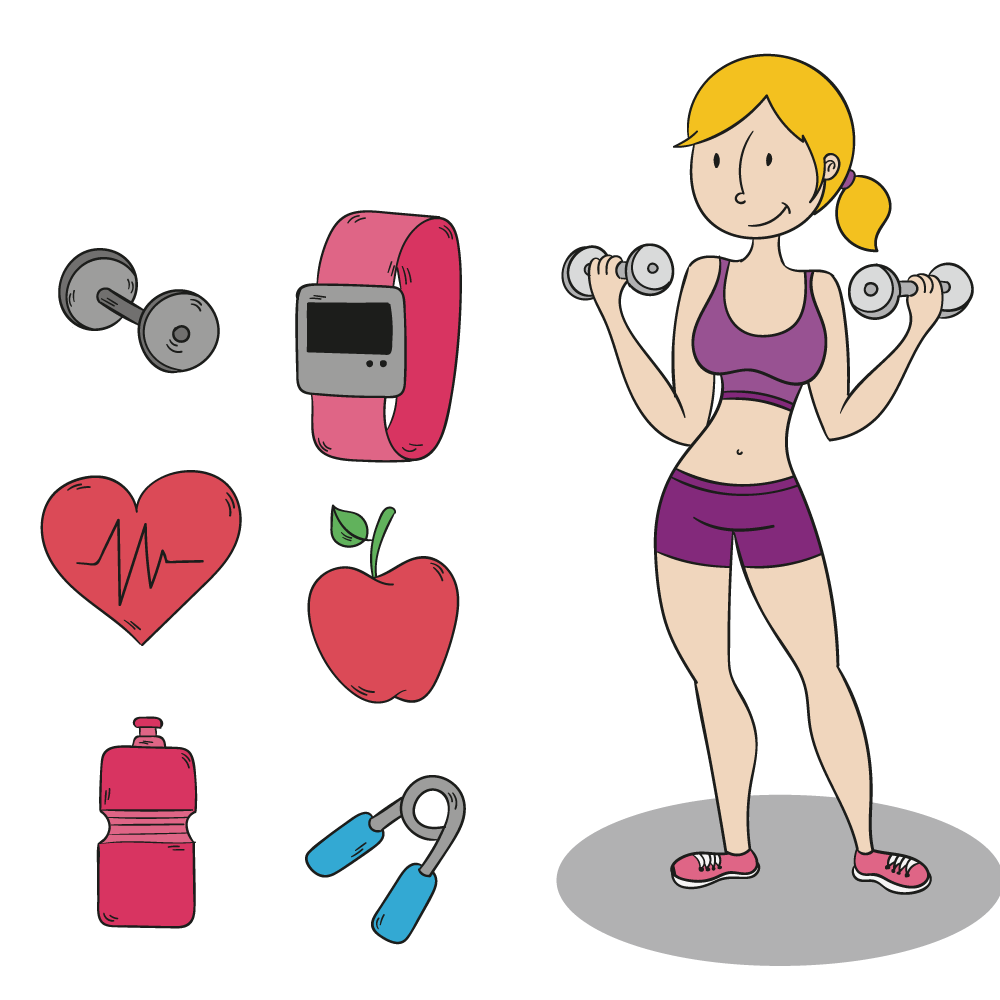Centre clip art exercise. Weight clipart fitness center