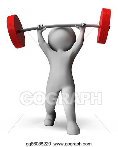 Clipart exercise weightlifting. Stock illustrations weight lifting