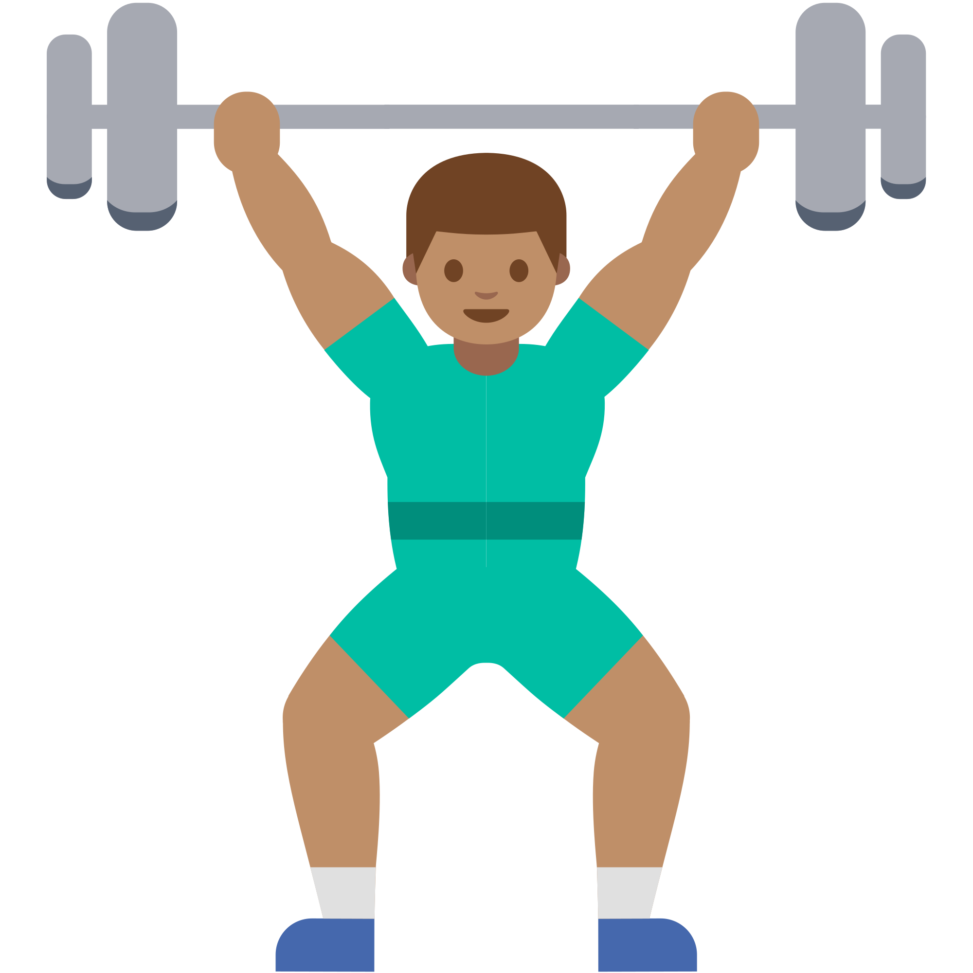 Clipart exercise weightlifting. File emoji u f