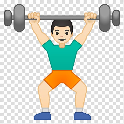 Clipart exercise weightlifting. Emoji physical fitness weight