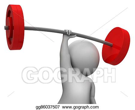 Drawing weight lifting indicates. Clipart exercise weightlifting