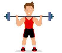 Sports free weightlifting to. Weight clipart workout weight